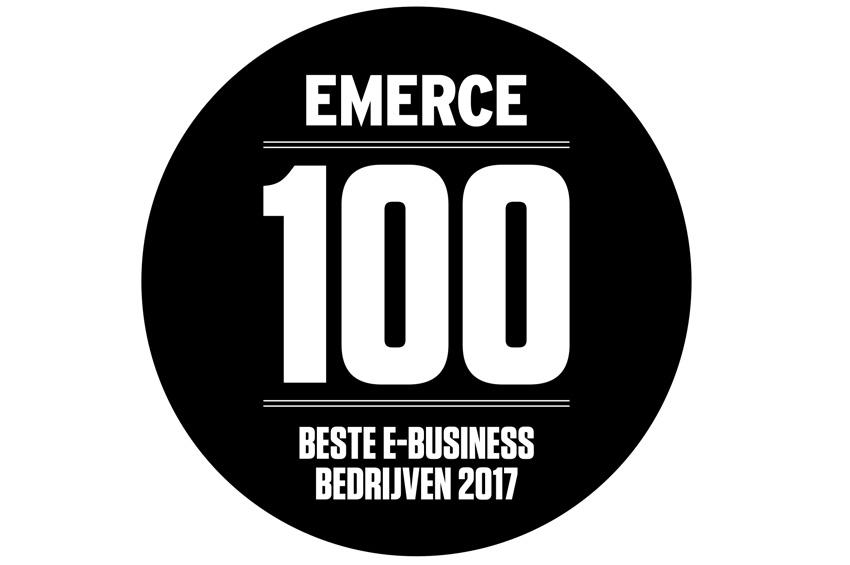 Gedeelde eerste plaats Pay.nl in de Emerce 100.